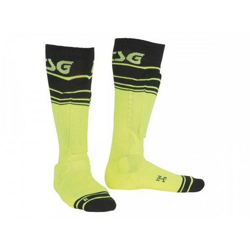 TSG Riot Socks - Yellow Striped