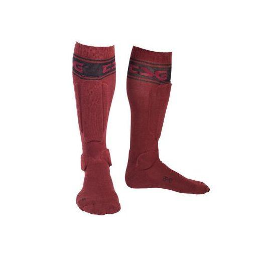 TSG Riot Socks - bordó - protektoros zokni