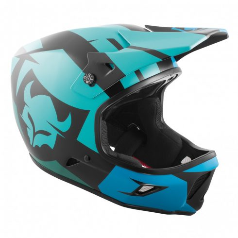 TSG Advance Graphic Design Interval Green Blue Fullface Helmet