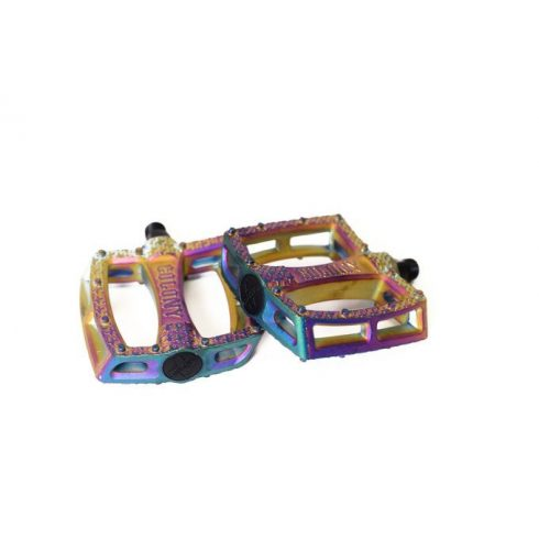Colony Fantastic Plastic BMX Pedals - Rainbow