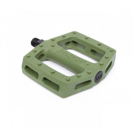 BSD Jonesin Sam Jones Signature BMX Pedals - Surplus Green